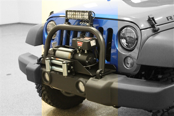 Oem front bumper winch plate light mounts and grille guards fits standard winches without air compressor built in requires rh 5010 winch plate sciox Images