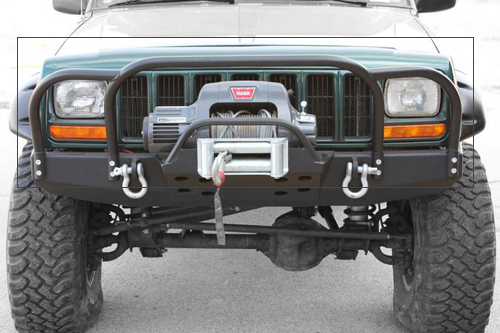 Rock Hard 4x4 Bolt On Front Bumper Winch Plate with Fairlead Mount for Jeep  Cherokee XJ, Comanche and Grand Cherokee WJ and ZJ