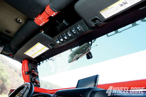 Rockhard X Ultimate Sports Cage on jeep wrangler jk oem switches panel