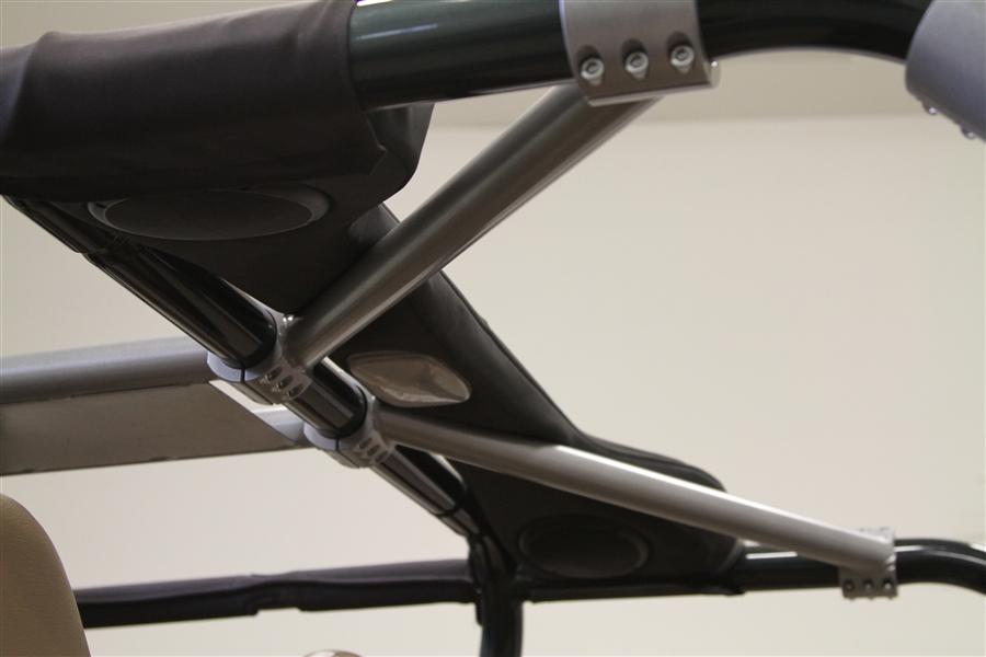 Rock Hard 4x4 Rear Overhead Angle Bars For Jeep Wrangler
