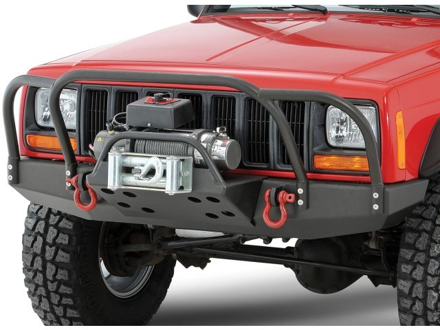 Rock Hard 4x4 Bolt On Front Bumper Brush Grille Guard For