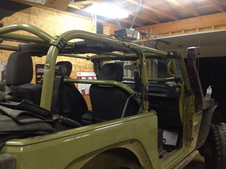 Rock Hard 4x4 Front Seat Harness Bar For Jeep Wrangler Jk