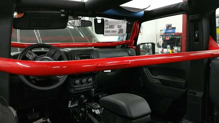 Rock Hard 4x4 Front Seat Harness Bar For Jeep Wrangler Jk