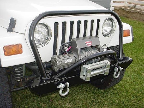 Jeep Wrangler Tj For Sale >> Rock Hard 4x4™ Bolt-on Grille Hoop for Jeep CJ5, CJ7, CJ8