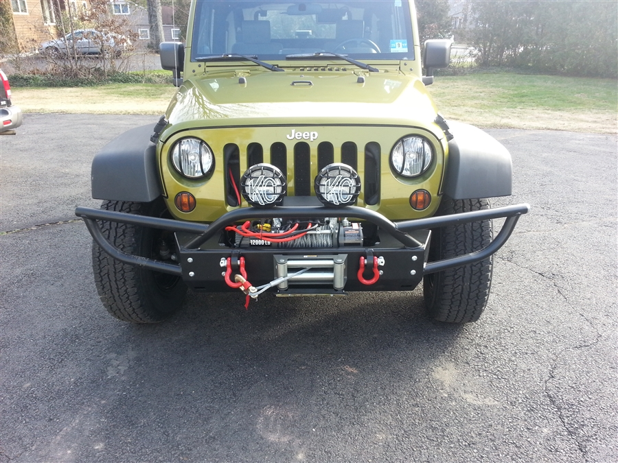 Jeep Wrangler Fog Lights >> Rock Hard 4x4™ PreRunner Series Grille Width Front Bumper w/ Tube Extensions w/ Lowered Winch ...
