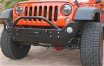 Rock Hard 4x4™ Aluminum Patriot Series Mid-Width Front Bumper w/ Lowered Winch Plate for Jeep Wrangler JK 2007 - 2018 [RH-5048]