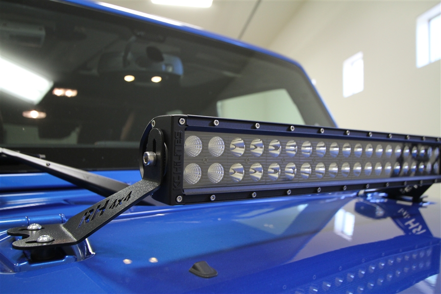 Rock Hard 4x4 20 Quot Led Light Bar Hood Mount For Jeep