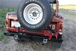 Rock Hard 4x4™ Patriot Series Rear Bumper with Tire Carrier for Ford Bronco 1966 - 1977 [RH-6101]