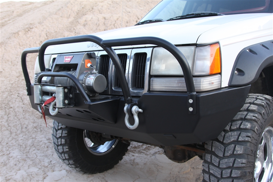 Jeep Grand Cherokee Off Road Bumper >> Rock Hard 4x4™ Bolt On Brush/Grille Guard for Jeep Grand Cherokee ZJ 1993 - 1998 [RH-7002-B]