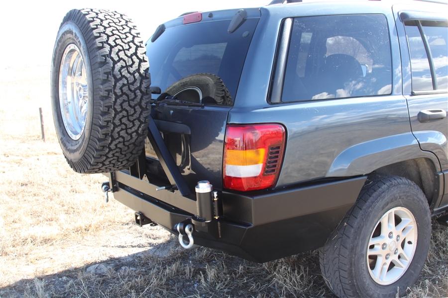 Rock Hard 4x4 Patriot Series Rear Bumper W Tire Carrier