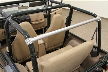 Rock Hard 4x4™ Straight Across the Rear Bar for Jeep Wrangler TJ and Unlimited LJ 1997 - 2006 [RH-1001-B]