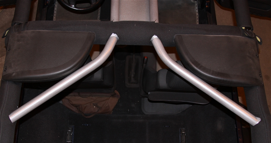 RH 1001 F 11 rock hard 4x4& 8482; rear overhead angle bars for jeep wrangler tj