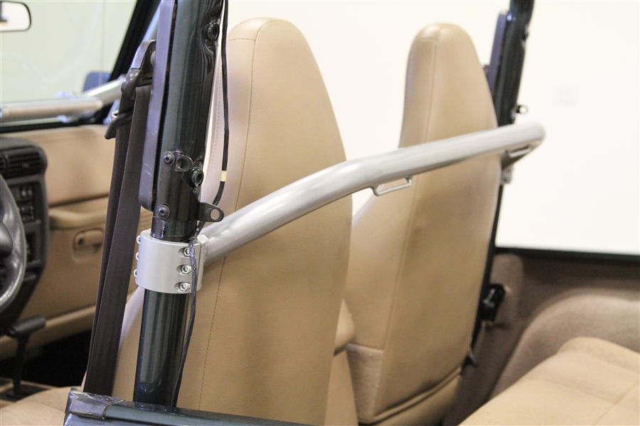 straight across front harness bar for jeep wrangler tj and unlimited lj 1997  rock hard 4x4