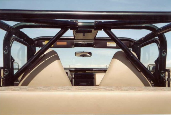 rock hard 4x4™ angled harness bar passenger side for jeep cj5, cj7,  wrangler yj, tj, and unlimited lj 1979 - 2006 [rh-1004-rt]  rock hard 4x4