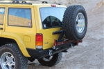 Rock Hard 4x4™ Patriot Series Rear Bumper w/ Tire Carrier for Jeep Cherokee XJ 1984 - 2001 [RH-1013]