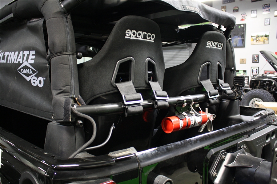 Rock Hard 4x4 Rear Bench Harness Bar For Jeep Wrangler Jk