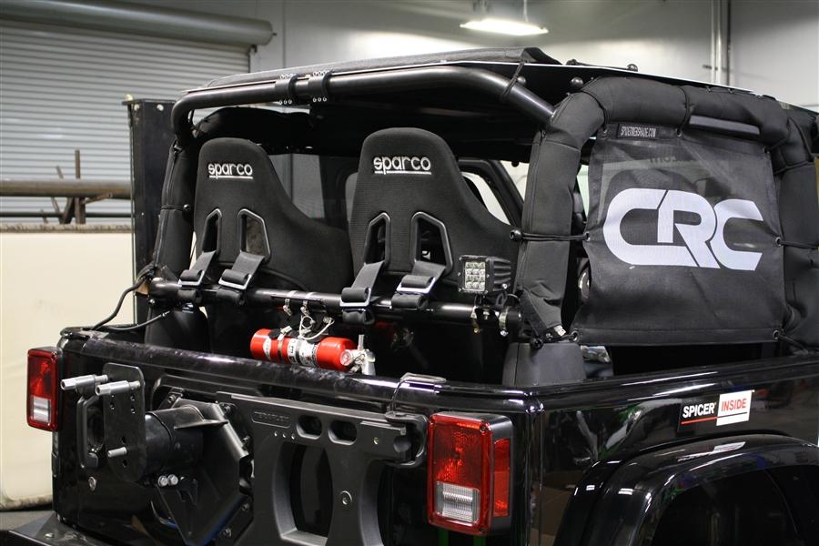 Rock Hard 4x4™ Rear Bench Harness Bar for Jeep Wrangler JK 2DR