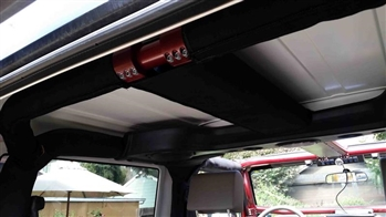 Rock Hard 4x4™ Padding Kit for Rear Overhead Center Bars and Straight Across the Rear Bar for Jeep Wrangler JK 2DR 2007 - 2018 [RH-1030-RTP2]