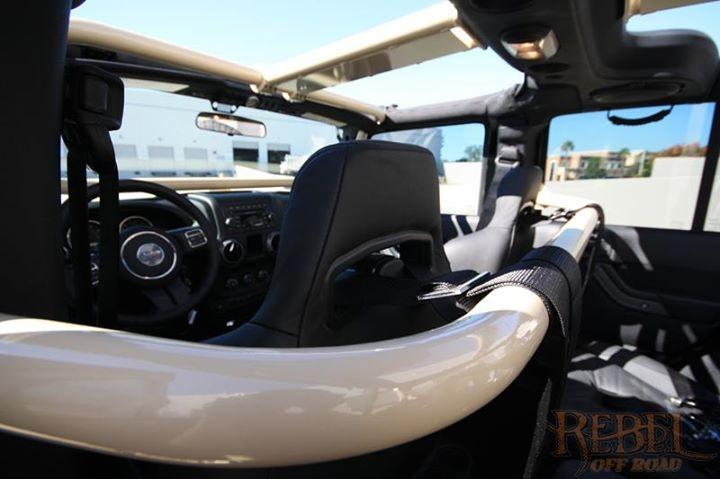Rock Hard 4x4™ Front Seat Harness Bar for Jeep Wrangler JK ...