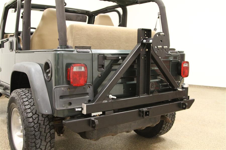 Rock Hard 4x4u0026#8482; Patriot Series Rear Bumper With Tire Carrier For Jeep  Wrangler TJ, LJ, ...