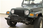 Rock Hard 4x4™ Mid Width Legendary Front Bumper Angled Forward Hoop for Jeep CJ5, CJ7, CJ8, YJ, TJ and LJ 1976 - 2006 [RH-4001-C54]