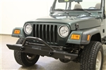 Rock Hard 4x4™ Full Width Legendary Front Bumper Angled Forward Hoop for Jeep CJ5, CJ7, CJ8, YJ, TJ and LJ 1976 - 2006 [RH-4001-C60]