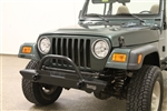 Rock Hard 4x4™ Narrow Width Legendary Front Bumper Straight Up Hoop for Jeep CJ, YJ, TJ, LJ 1976 - 2006 [RH-4005-C46]