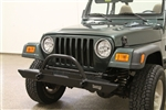 Rock Hard 4x4™ Mid Width Legendary Front Bumper Straight Up Hoop for Jeep CJ, YJ, TJ, LJ 1976 - 2006 [RH-4005-C54]