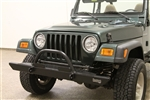 Rock Hard 4x4™ Full Width Legendary Front Bumper Straight Up Hoop for Jeep CJ, YJ, TJ, LJ 1976 - 2006 [RH-4005-C60]
