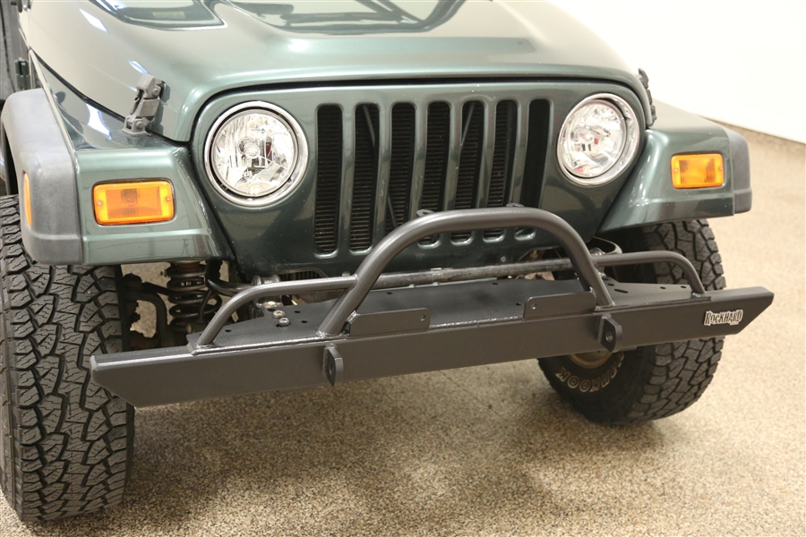 Rock Hard 4x4 Full Width Legendary Front Bumper Straight Up Hoop W Tube Extensions For Jeep Cj