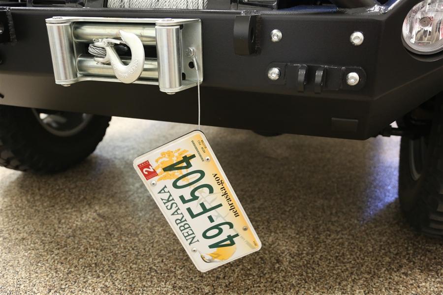 Rock Hard 4x4 Roller Fairlead License Plate Mount W