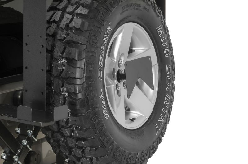 Rock Hard 4x4 Rear License Plate Relocation Bracket Rh 4007