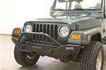 Rock Hard 4x4™ Patriot Series Full Width Front Bumper w/ Receiver for Jeep CJ5, CJ7, CJ8, YJ, TJ, and LJ 1976 - 2006 [RH-4011]