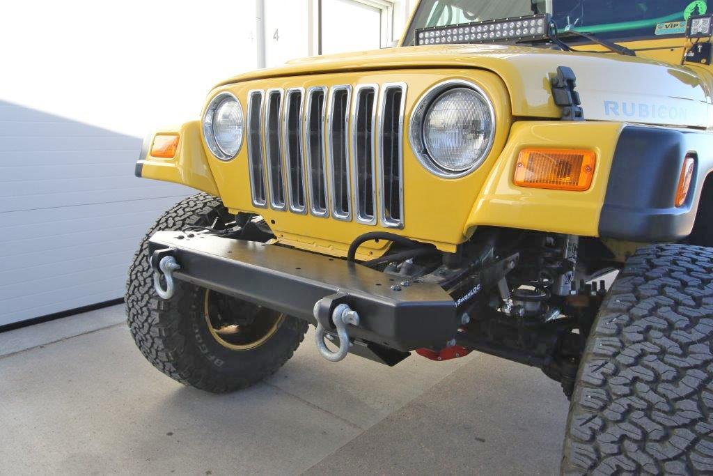 rock hard 4x4™ freedom series front bumper for jeep cj5, cj7, cj8, yj, tj, and lj 1976 2006 [rh 4014] Original Front Bumper Jeep Scrambler