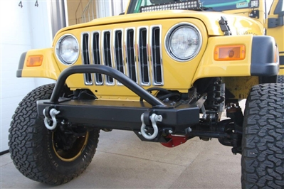 Rock Hard 4x4™ Shorty Winch Guard with Light Mounting Tabs for RH-4014 Front Bumper [RH-4015]