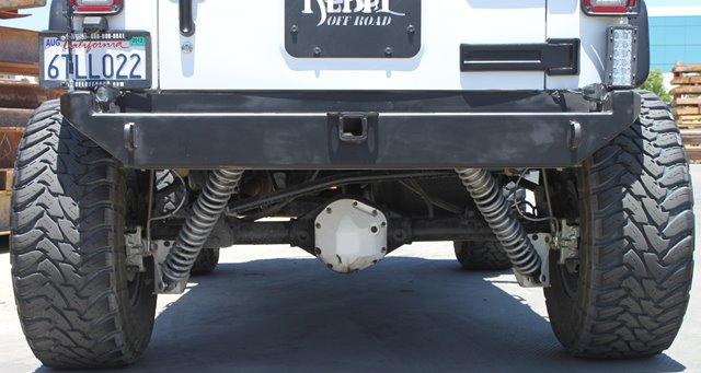 Rock Hard 4x4u0026#8482; Patriot Series Rear Bumper W/o Tire Carrier For Jeep  Wrangler JK 2007   2018 [RH 5000]