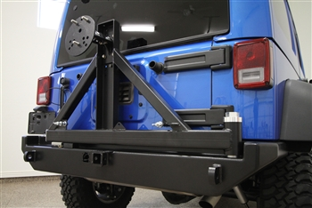 Rock Hard 4x4™ Patriot Series Rear Bumper with Tire Carrier for Jeep Wrangler JK 2007 - 2018 [RH-5001]