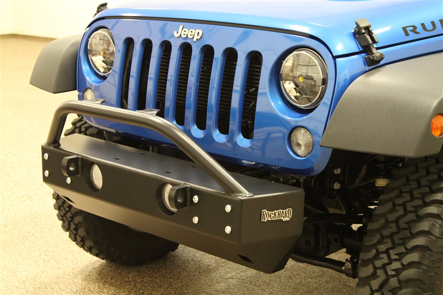 Jeep Wrangler Jk Front Bumper >> Rock Hard 4x4 8482 Patriot Series Grille Width Front Bumper For