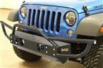Rock Hard 4x4™ PreRunner Series Grille Width Front Bumper w/ Tube Extensions for Jeep Wrangler JK 2007 - 2018 [RH-5003]