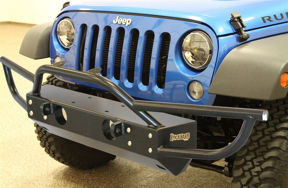 Rock Hard 4x4u0026#8482; PreRunner Series Grille Width Front Bumper W/ Tube  Extensions For Jeep Wrangler ...