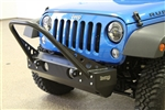 Rock Hard 4x4™ Patriot Series Grille Width Front Bumper w/ Stinger for Jeep Wrangler JK 2007 - 2018 [RH-5007]