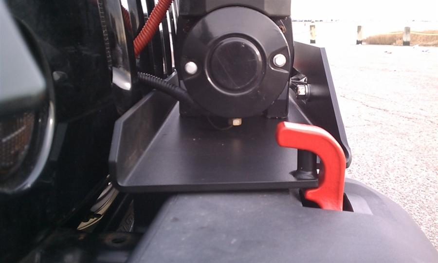 Jeep Wrangler Jk Front Bumper >> Rock Hard 4x4™ Patriot Series Winch Plate for Factory Front Bumper for Jeep Wrangler JK 2007 ...