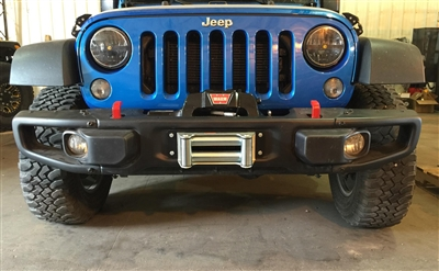 Rock Hard 4x4™ Patriot Series Winch Plate for 10A/Hard Rock Edition/Recon Front Bumper for Jeep Wrangler JK 2/4DR 2007 - 2018 [RH-5017]