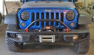 Rock Hard 4x4™ Grille Guard and Light Mount Hoop for 10A/HardRock/Recon Edition Jeep Wrangler JK 2/4DR 2007 - 2018 [RH-5019]