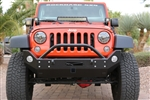 Rock Hard 4x4™ Patriot Series Mid-Width Front Bumper w/ Receiver w/ Lowered Winch Plate for Jeep Wrangler JK 2007 - 2018 [RH-5024]