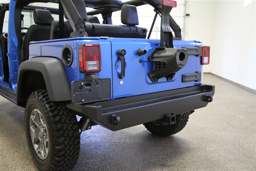 Rock Hard 4x4u0026#8482; Aluminum Patriot Series Rear Bumper W/o Tire Carrier  For Jeep Wrangler ...