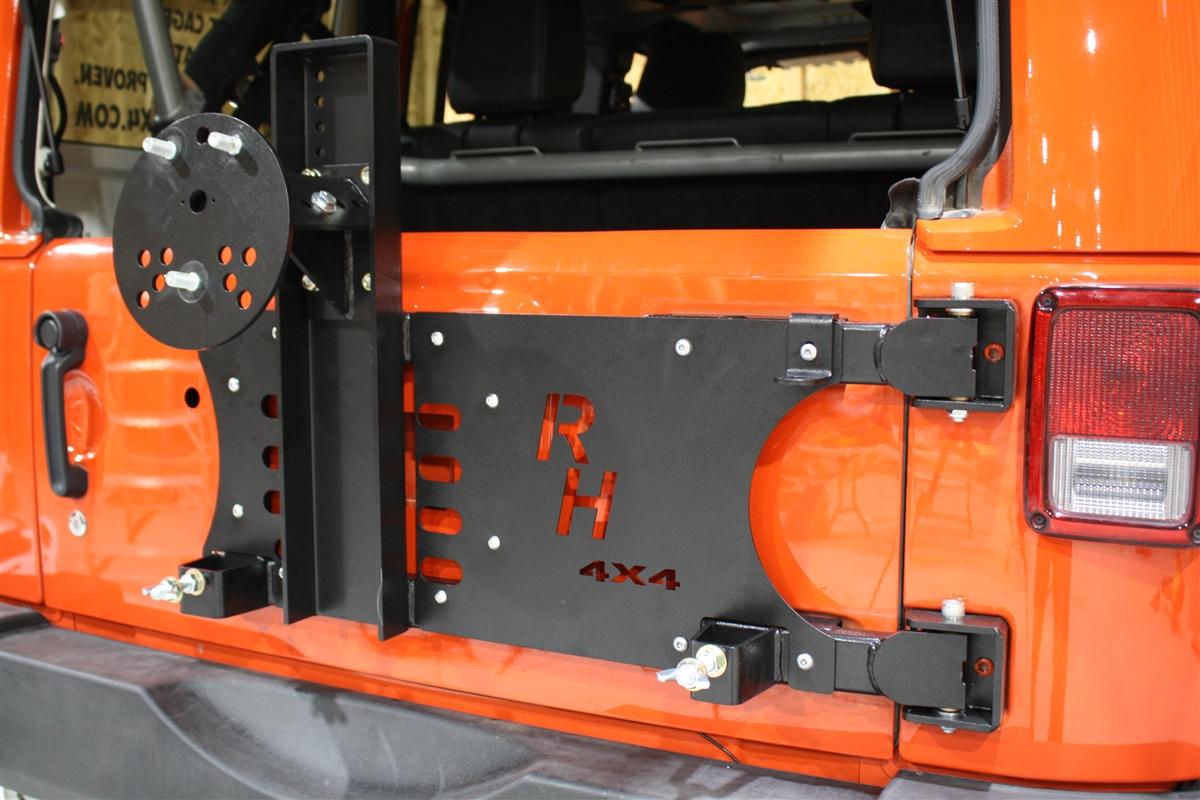 Jeep Wrangler Winch >> Rock Hard 4x4™ Freedom Series Body Mount Tire Carrier for Jeep Wrangler JK 2007 - 2018 [RH-5050]