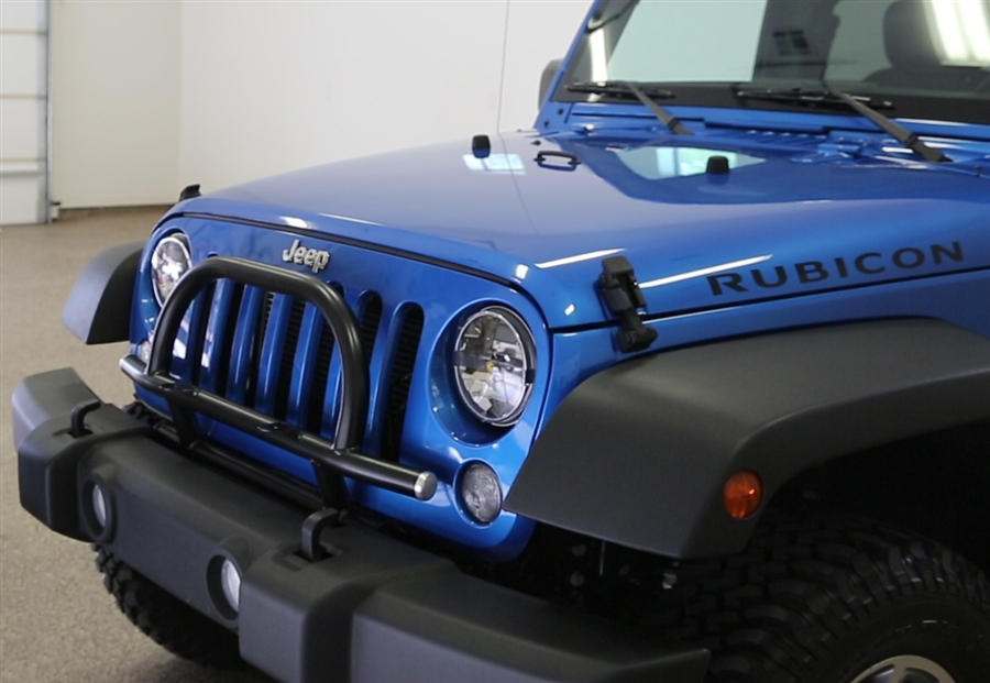 Beautiful Rock Hard 4x4u0026#8482; Light Mount With Grille Guard For Factory Front Bumper Jeep  Wrangler JK 2/4DR 2007   2018 [RH 6061]