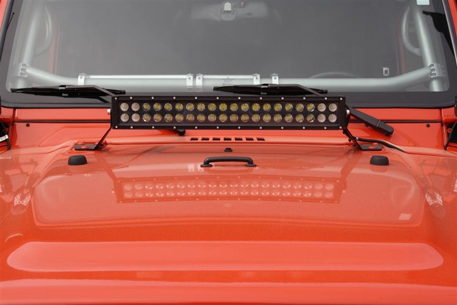 Rock Hard 4x4 20 Quot Led Light Bar Hood Mount For Jeep