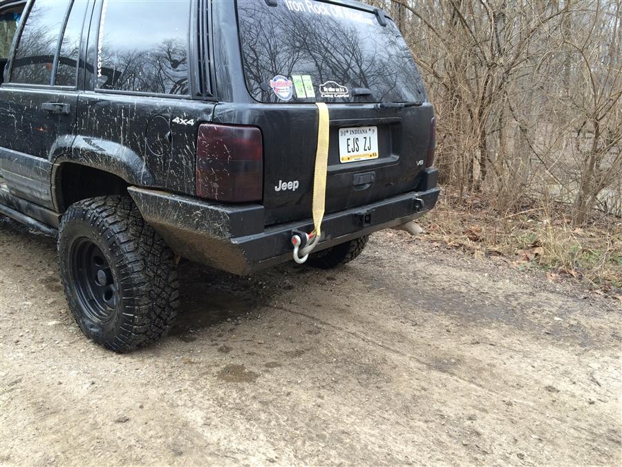 Lovely Rock Hard 4x4u0026#8482; Patriot Series Rear Bumper W/o Tire Carrier For Jeep  Grand Cherokee ZJ 1993   1998 [RH 7001]